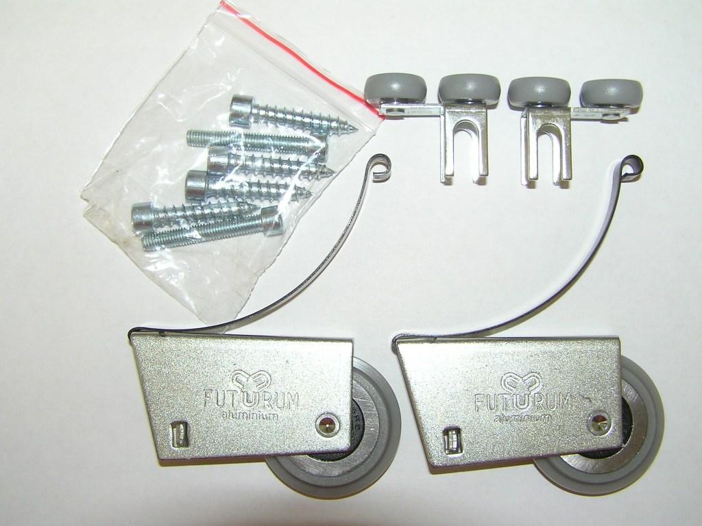 АФ Комплект роликов Futurum AL асимм (откр) F608-11D 2+2+винты