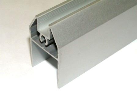 AIR  Горизонтальный нижний профиль, серебро, 6000мм