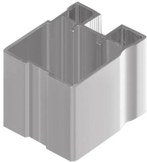 AIR  Вертикальный профиль, серебро, 5800мм