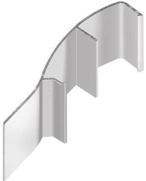 AIR  Декоративная накладка криволинейная-потолок, серебро, 5800мм