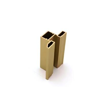 АФ Профиль вертикальный ЭЛЕГАНТ NEW, золото белое, 5400мм