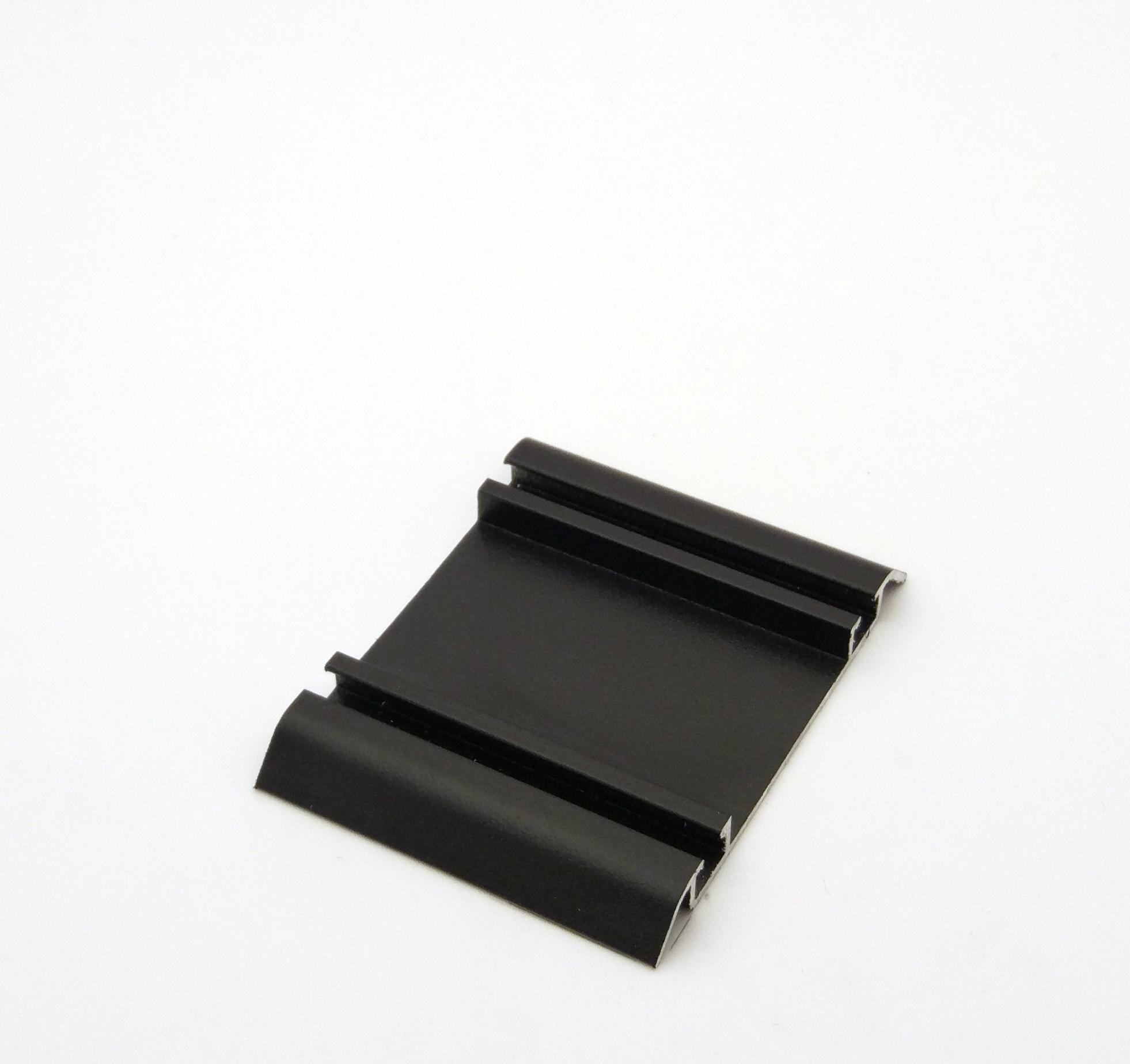 АФ Рельс двойной нижний 250, черный матовый, 6000мм
