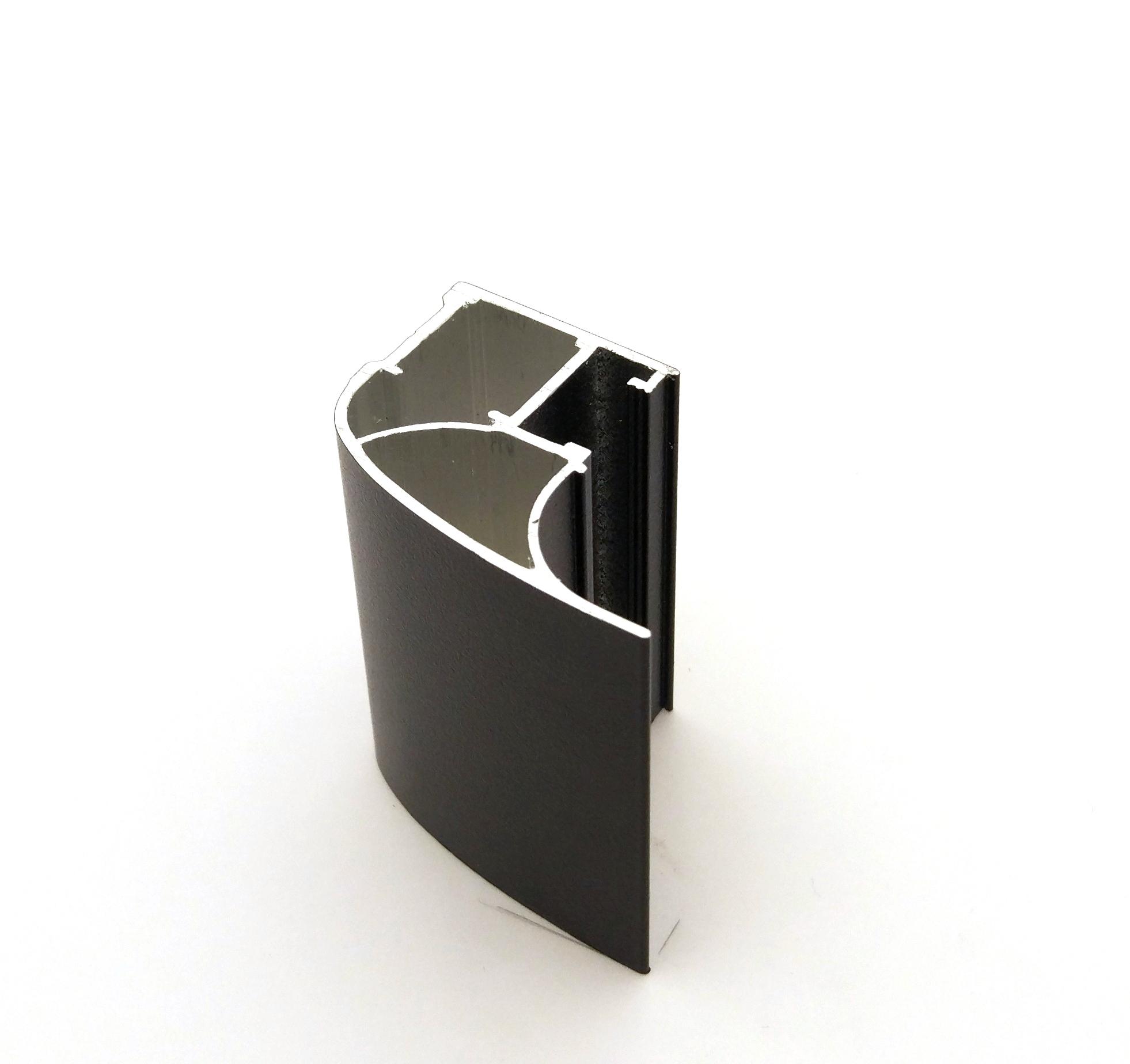 АФ Профиль вертикальный люкс 454, черный матовый, 5400мм