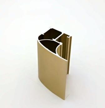 АФ Профиль вертикальный люкс 454, BRUSH золото белое, 5400мм