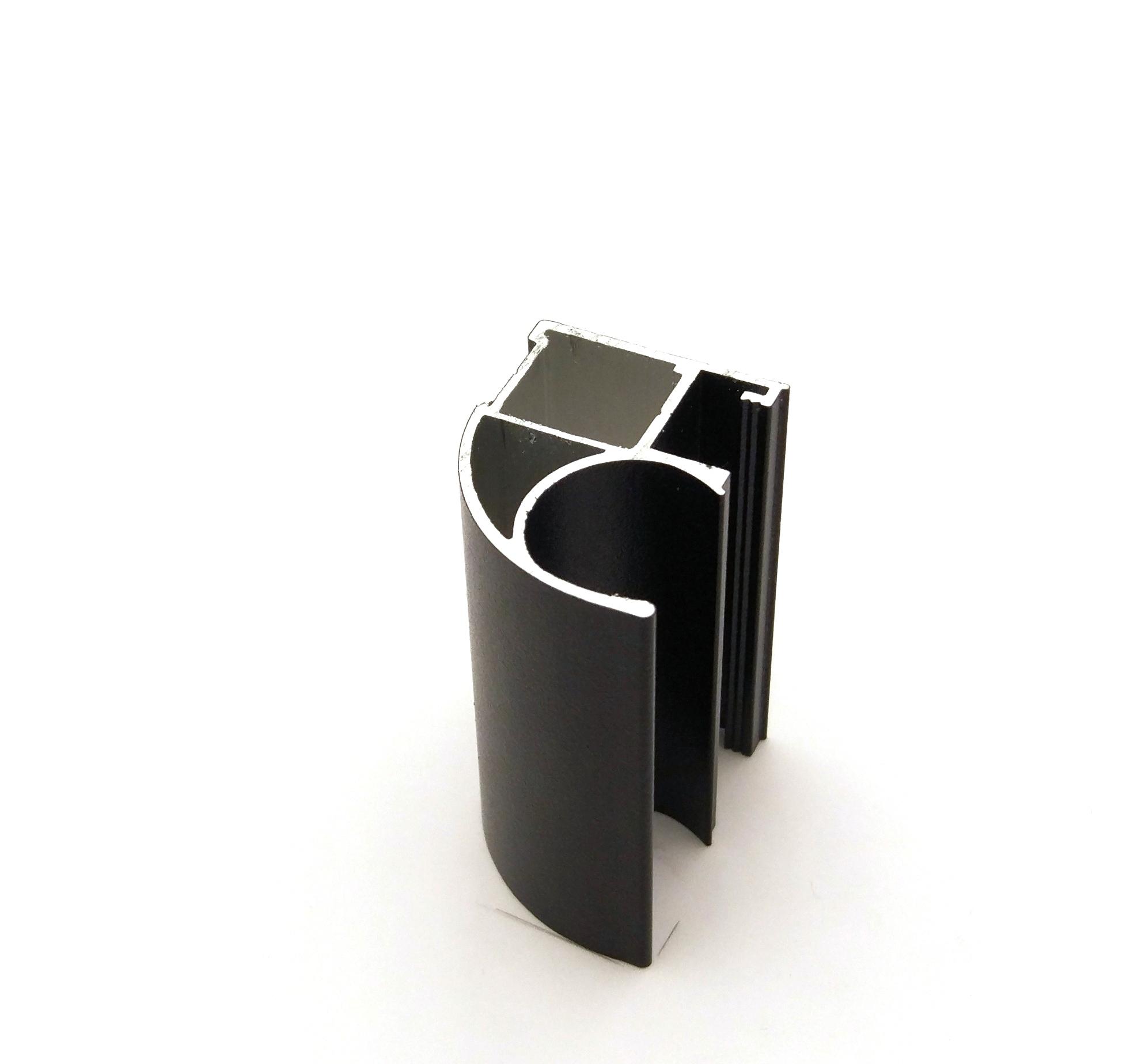 АФ Профиль вертикальный открытый MEDIUM, черный матовый, 5400мм