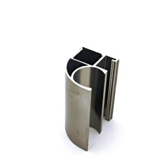 АФ Профиль вертикальный открытый MEDIUM, BRUSH шампань, 5400мм