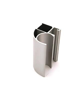 АФ Профиль вертикальный открытый MEDIUM, серебро, 5400мм