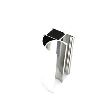 АФ Профиль вертикальный открытый MEDIUM, BRUSH серебро, 5400мм
