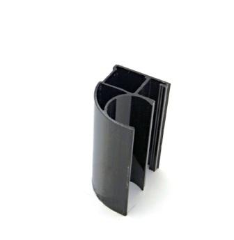 АФ Профиль вертикальный открытый MEDIUM, венге глянец, 5400мм