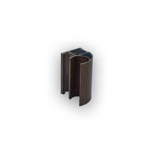 АФ Профиль вертикальный открытый MEDIUM, ясень шимо темный NEW, 5400мм