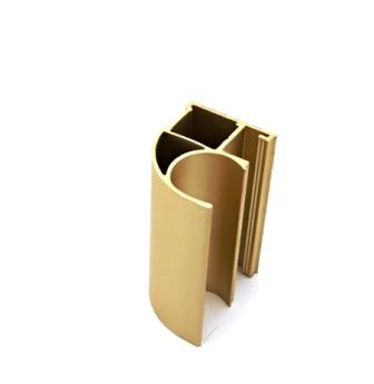 АФ Профиль вертикальный открытый MEDIUM, золото белое, 5400мм