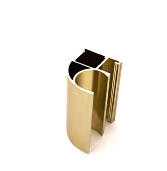 АФ Профиль вертикальный открытый MEDIUM, BRUSH золото белое, 5400мм