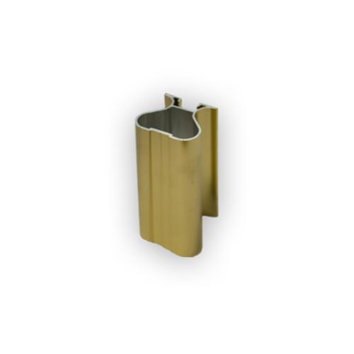 АФ Профиль вертикальный закрытый 419, BRUSH золото белое, 5400мм
