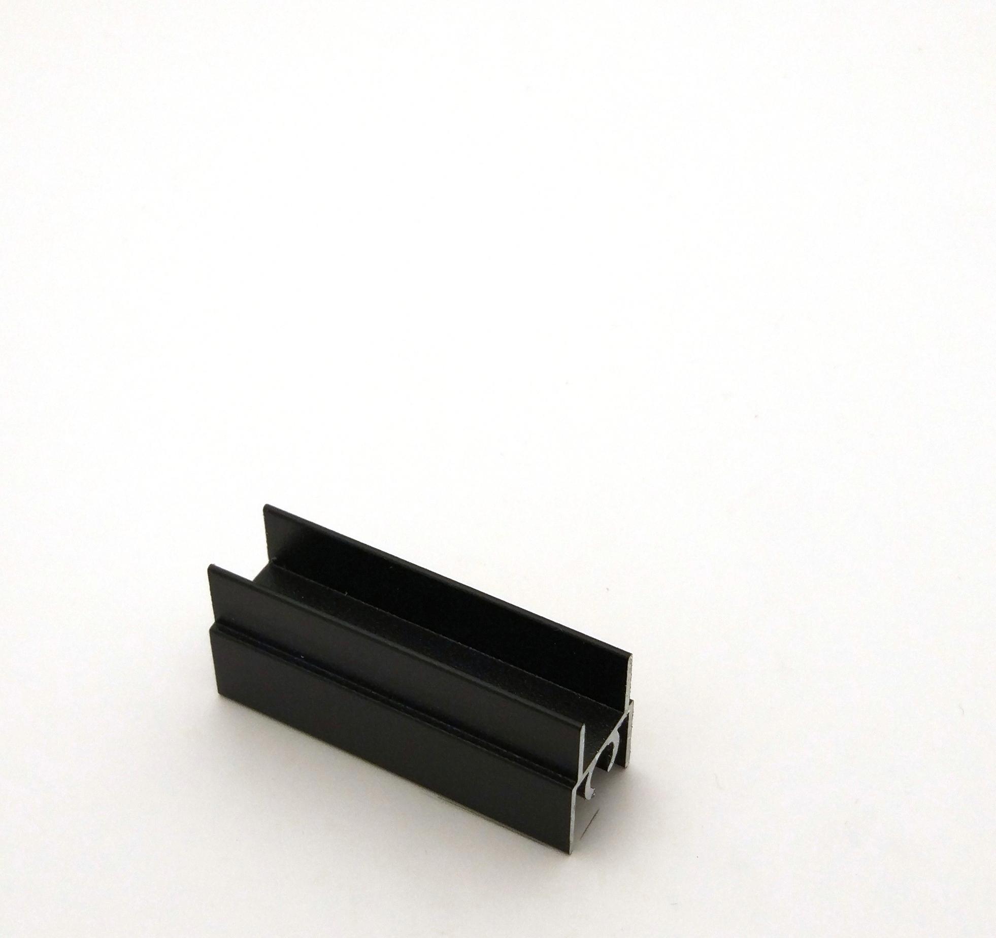АФ Профиль горизонтальный верхний 196, черный матовый, 6000мм