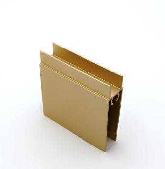 АФ Профиль горизонтальный нижний 377, золото белое, 6000мм