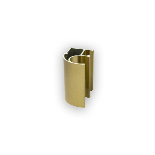 АФ Профиль горизонтальный нижний 377, BRUSH золото белое, 6000мм