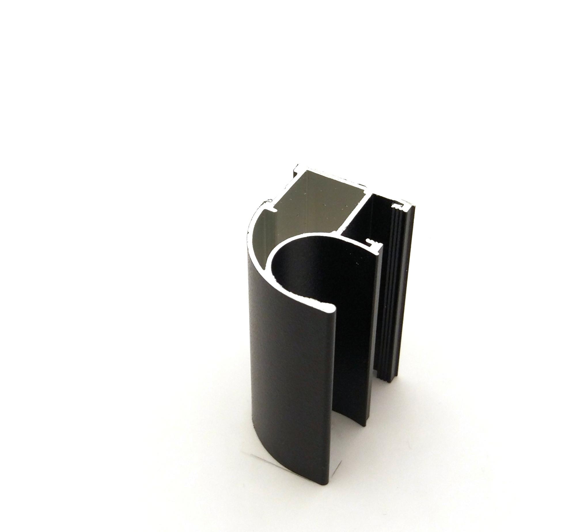 АФ Профиль вертикальный открытый LIGHT, черный матовый, 5400мм