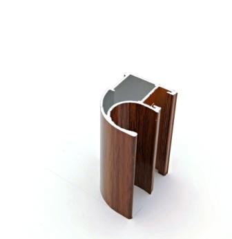 АФ Профиль вертикальный открытый LIGHT, орех, 5400мм