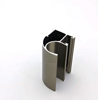 АФ Профиль вертикальный открытый LIGHT, BRUSH шампань, 5400мм