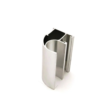 АФ Профиль вертикальный открытый LIGHT, BRUSH серебро, 5400мм