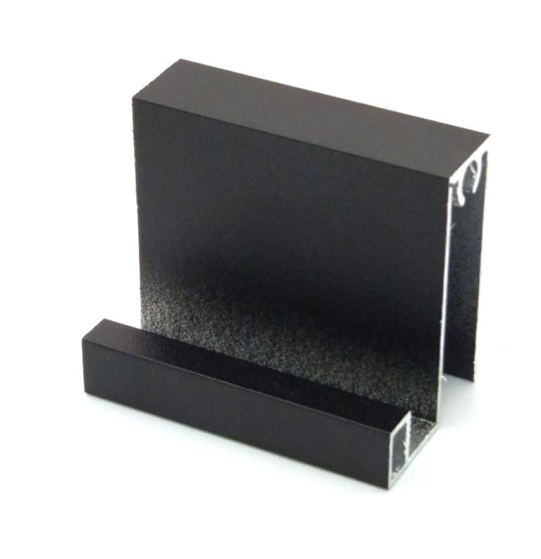 АФ Профиль горизонтальный нижний SLENDER, черный матовый, 6000мм
