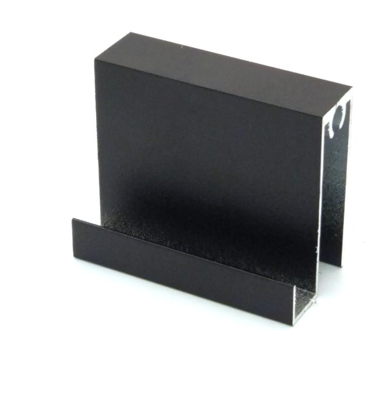 АФ Профиль горизонтальный нижний MAGIC, черный матовый, 6000мм