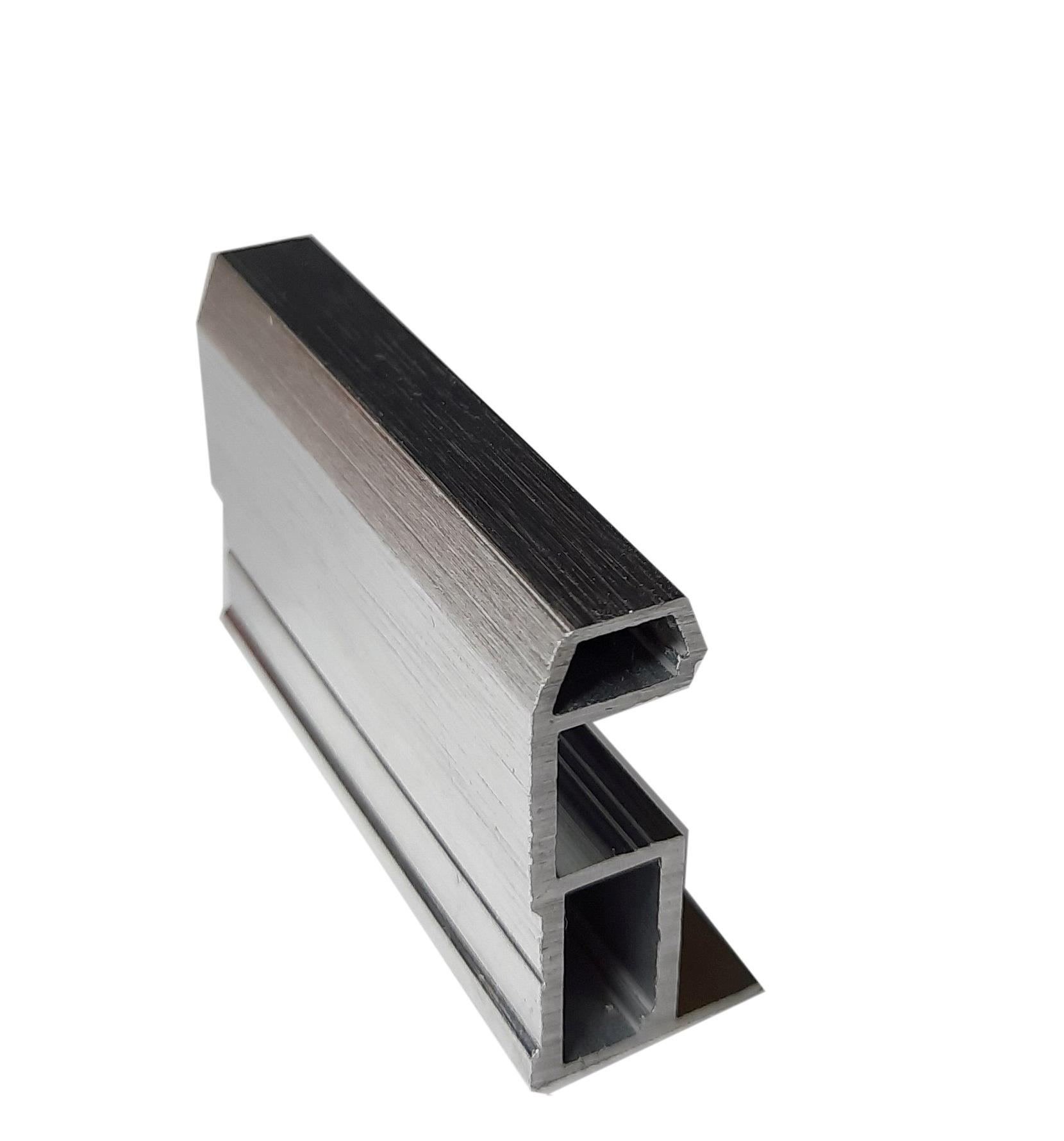 АФ Профиль вертикальный MAGIC-2, BRUSH серебро, 5400мм