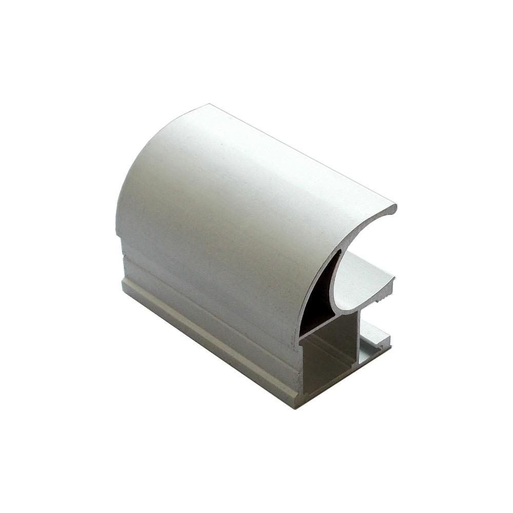 АФ Профиль вертикальный открытый 1,2мм HEAVY, серебро, 5400мм