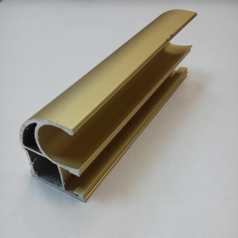 АФ Профиль вертикальный открытый 1,2мм HEAVY, золото белое, 5400мм