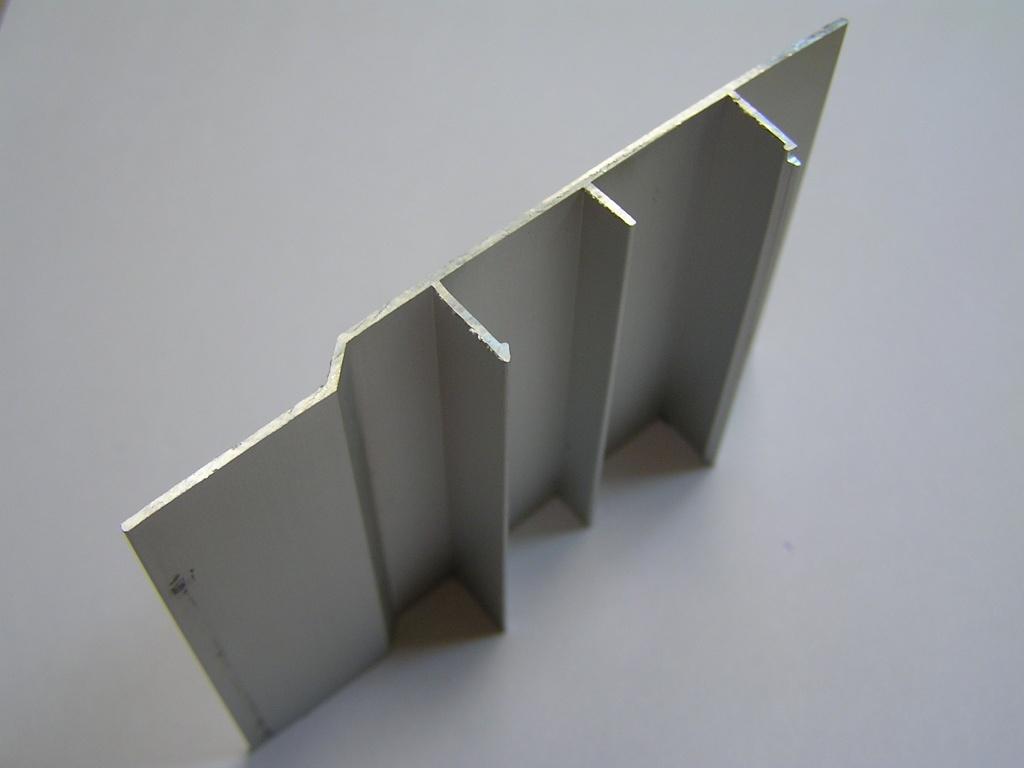 AIR  Декоративная накладка прямая-стена, серебро, 6000мм