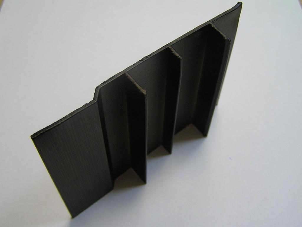 AIR  Декоративная накладка прямая-стена, венге матовый, 6000мм