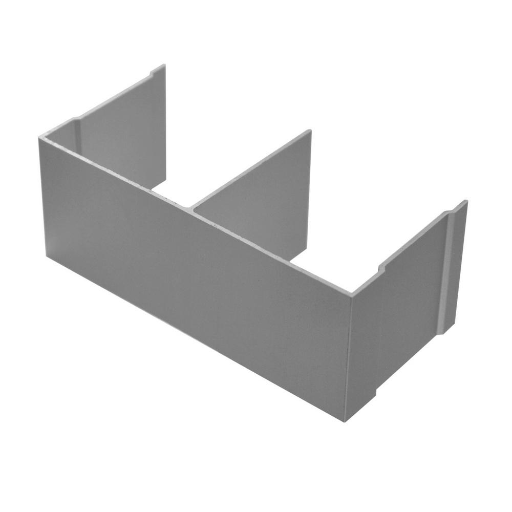 АФ Рельс двойной верхний, серебро, 6000мм
