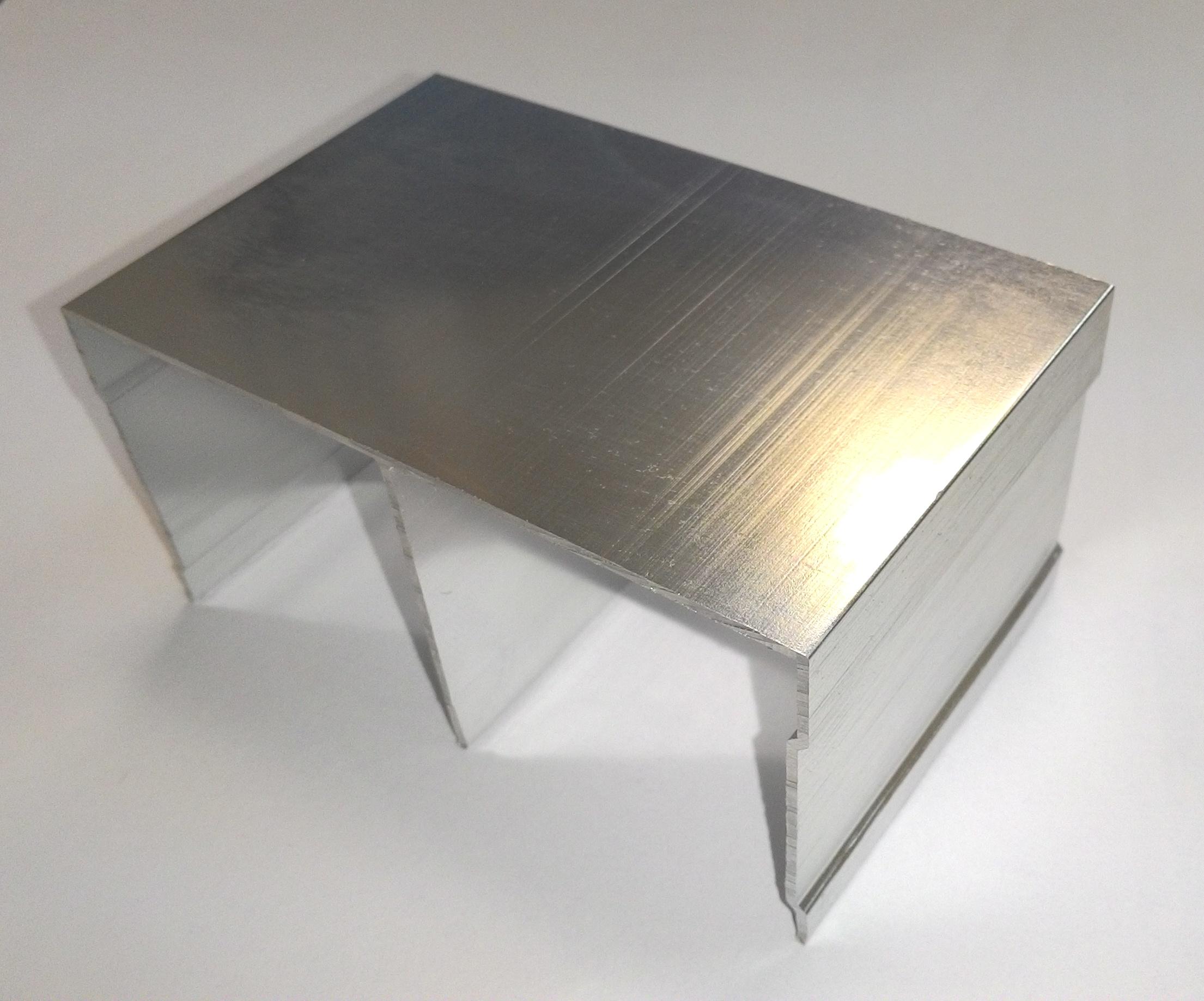 АФ Рельс двойной верхний, BRUSH серебро, 6000мм