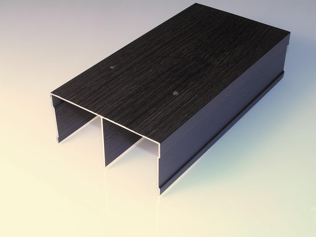 АФ Рельс двойной верхний, венге матовый, 6000мм