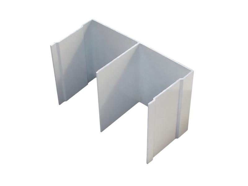 АФ Рельс двойной верхний, белый, 6000мм