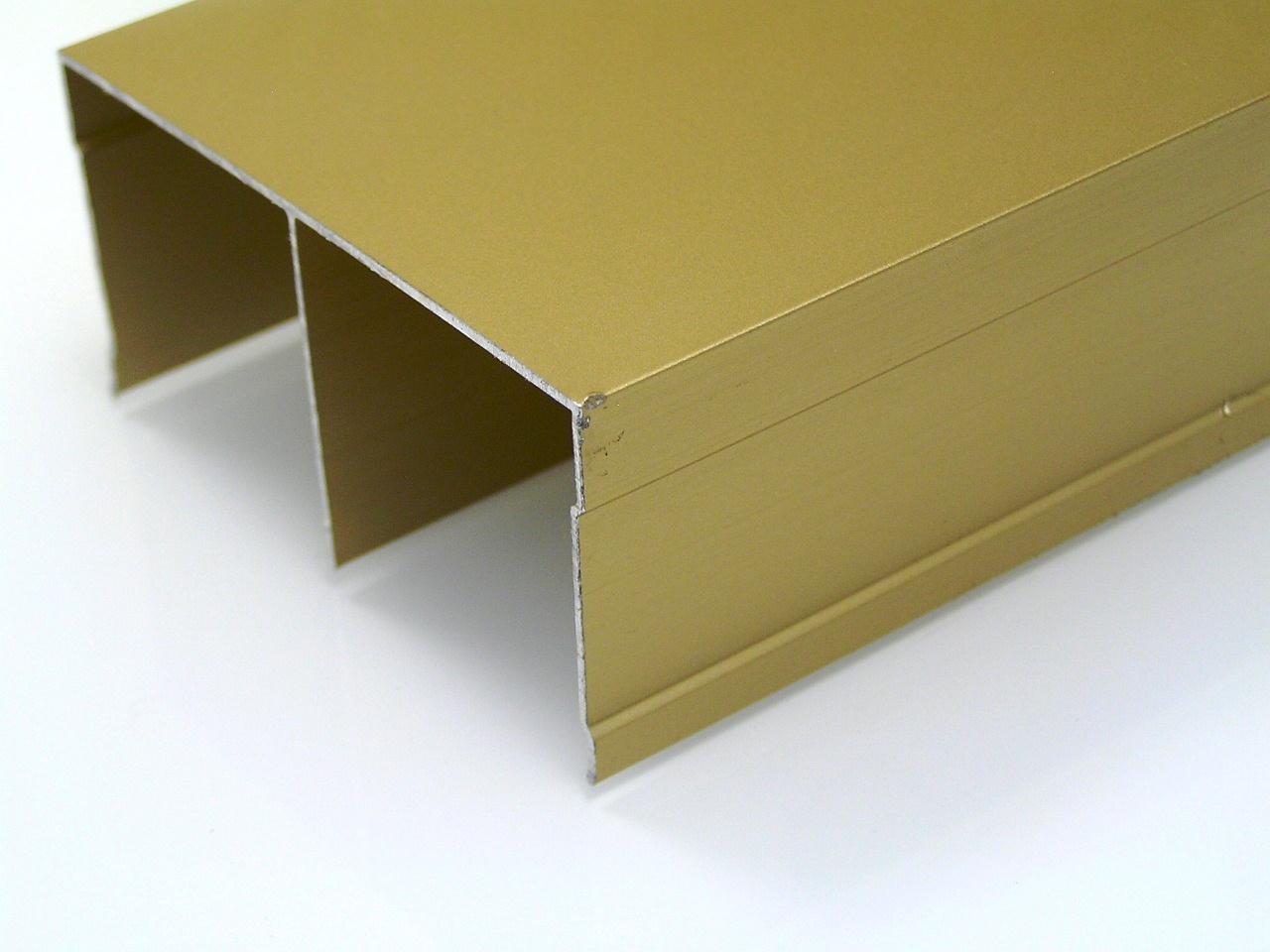 АФ Рельс двойной верхний, золото белое, 6000мм