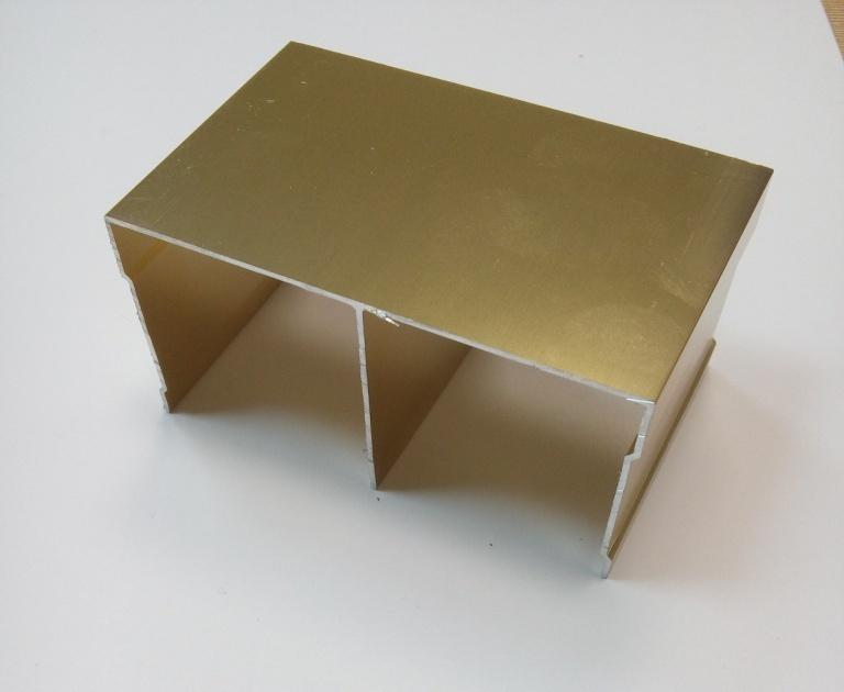 АФ Рельс двойной верхний, BRUSH золото белое, 6000мм