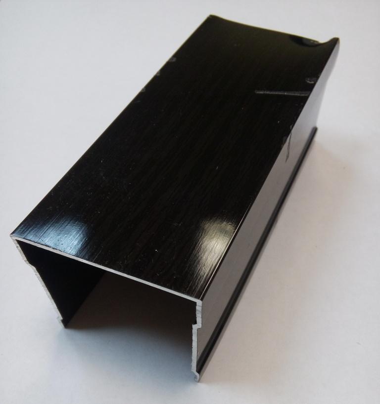 АФ Рельс одинарный верхний, венге глянец, 6000мм