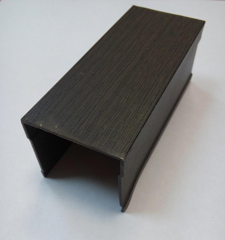 АФ Рельс одинарный верхний, венге матовый, 6000мм