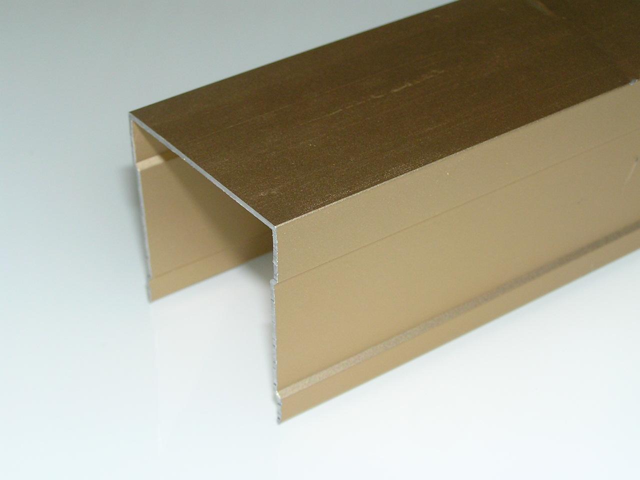 АФ Рельс одинарный верхний, золото белое, 6000мм
