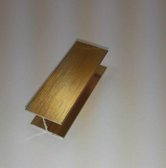 АФ Профиль соединительный, BRUSH золото белое, 6000мм